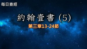 Read more about the article 約翰壹書(5)3:13-24