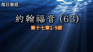 Read more about the article 約翰福音(63)17:1-9