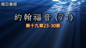 Read more about the article 約翰福音(71)19:23-30