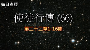 Read more about the article 使徒行傳(66)22:1-16