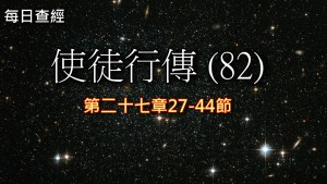 Read more about the article 使徒行傳(82)27:27-44