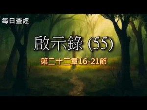 Read more about the article 啟示錄(55)22:16-21